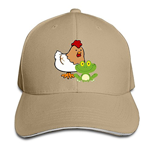 (Youbah-01 Women's/Men's Frog and Chicken Adult Adjustable Snapback Hats Baseball Cap)