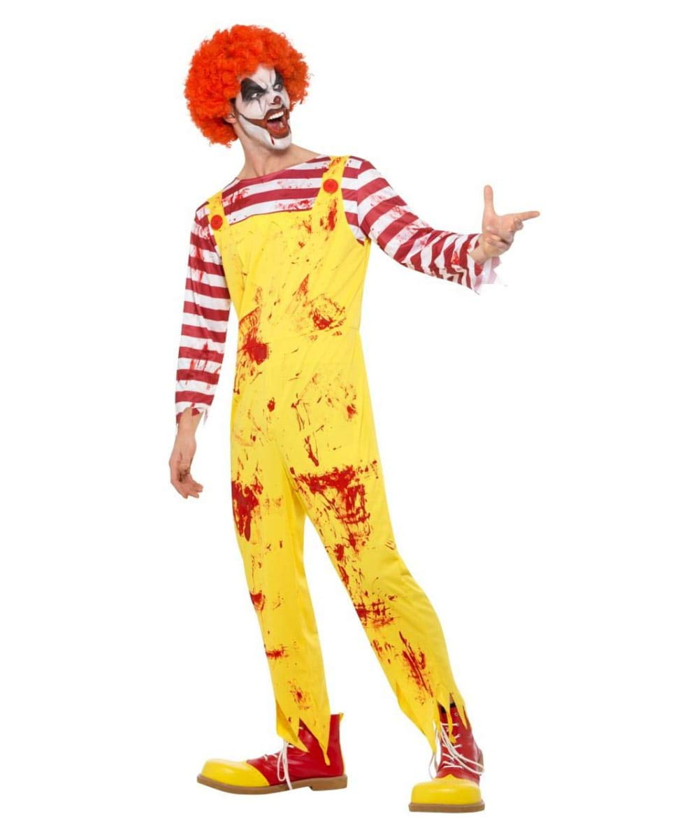 Horror-Shop Horror-Shop Horror-Shop Blutiges Killer Clown Kostüm für Halloween M 90e876
