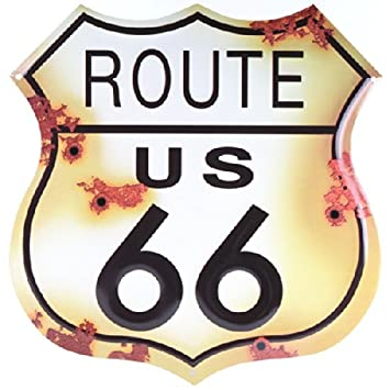 Amazon Route 66 Distressed Look Tin Sign Home Kitchen