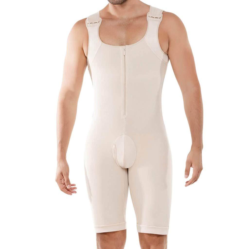 Dainzuy Compression Bodysuit for Men, Garments Fajas Colombianas para Hombre Shirt Girdle Shaper Liposuction Shapewear Khaki by Dainzuy