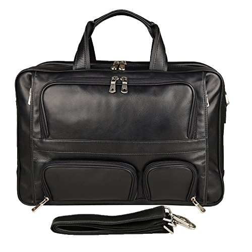 Texbo Men's Genuine Leather Business Trip Briefcase Large Bag Fit 17'' Laptop by Texbo (Image #1)