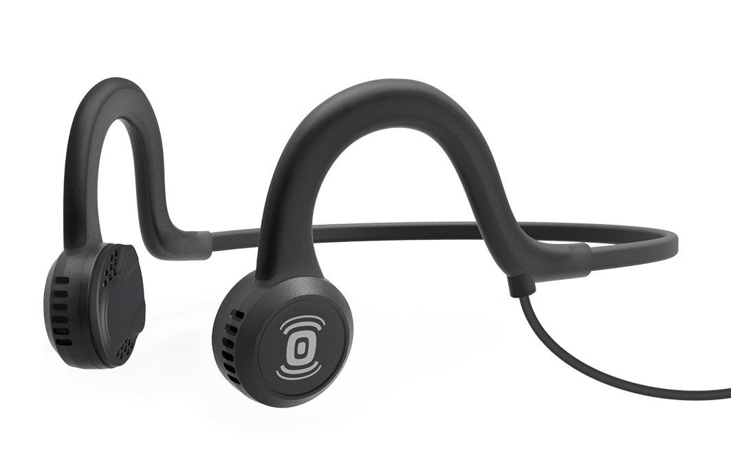 Aftershokz Sportz Titanium Bone Conduction Cuffie Audio a Conduzione Ossea con Microfono per Attivit...
