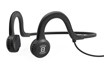 Aftershokz Sportz Titanium Bone Conduction Headphone with Microphone - Onyx Black <span at amazon