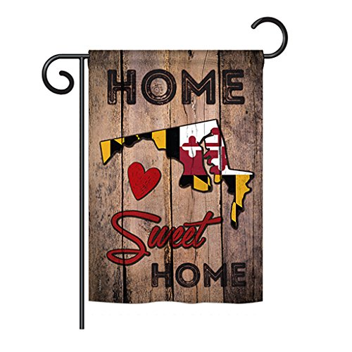 Ornament Collection State Maryland Home Sweet Home - Americana States Decoration - 13 x 18.5 Impressions Garden Flag US Made
