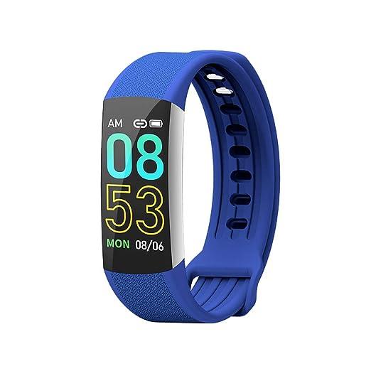 Denret3rgu Reloj Inteligente Deportivo 0.96 Pulgadas Monitor de Pasos de presión Arterial con Monitor de Fitness Pulsera - Azul: Amazon.es: Relojes