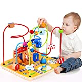 Large Wooden Bead Maze First Toddlers Learning Toy Activity Center Educational Toys