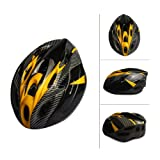 SAHOO New Eco-Friendly Bike Bicycle Integrated Helmet Cycling Adult Adjustable Safety Protection Helmets 18 Holes (Yellow-Black)
