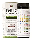 The Rapid Test Complete is a 14 Parameter Urinalysis Test that detects key chemical markers in human urine. These Urine Test Strips come with 100 strips or 100 tests that you can use. The one strip also tests for 14 different tests in one use. It tes...