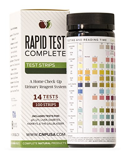 14 Parameter Urinalysis Test Strips 100ct, Urinary Tract Infection Strips (UTI) Urine Test, Kidney, Gallbladder, pH Test