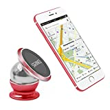 Cell Phone Holders Car Magnetic Auto Dash Mount Phone Holder, 360 Degree Rotate, iPhone 7 Red High Bright Edge