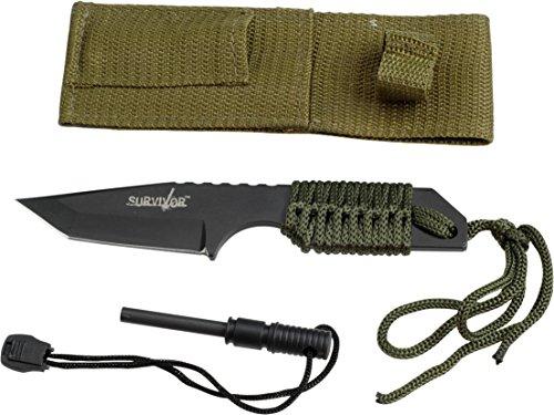 "Survivor HK-106320 Outdoor Fixed Blade Knife 7"" Overall"