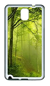 Awesome beautiful green forest TPU Custom Samsung Galaxy Note 3/Note III/N9000 Case and Cover - White
