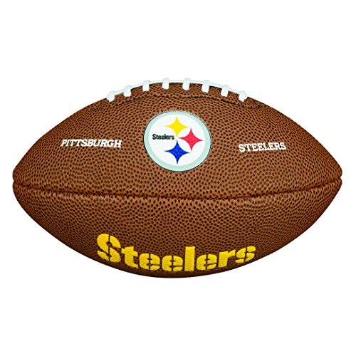 Wilson WTF1533IDPT NFL Team Logo Mini Size Football - Pittsburgh Steelers