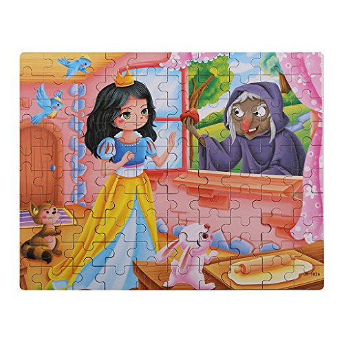 100 pc Wooden jigsaw Puzzles w/Storage Box Snow White