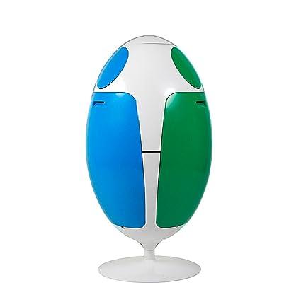 Habitare Art Design - Cubo de basura con diseño de huevo con 3 compartimentos diferenciados de