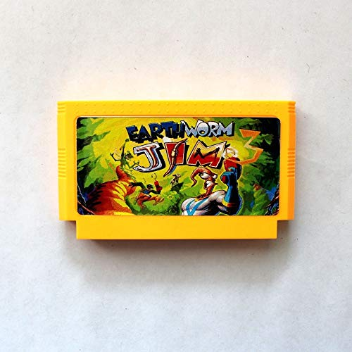 - ROMGame Earth Worm Jim 3 60 Pins 8 Bit Game Card
