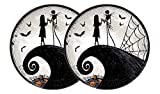 "Nightmare Before Christmas Halloween Paper Plates - Jack Skellington & Sally Party Plates - 9"" Diameter (2) 8ct = 16ct"