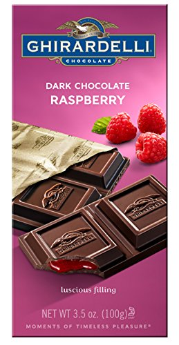 Ghirardelli Chocolate Bar, Dark & Raspberry, 3.5-Ounce Bars(Pack of 12) ()