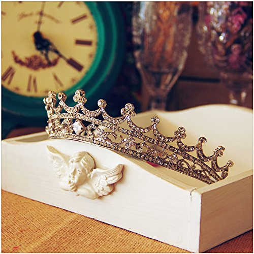 Price comparison product image Quantity 1x luxurious_ Wedding Birthday adult Crown Tiara Party Wedding Headband Women Bridal Princess Birthday Girl Gift Headdress Hair Ornaments Bridal Crown Tiara Party Wedding Headband Women Brida