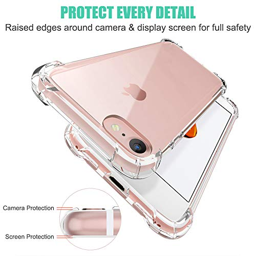 Matone for iPhone SE 2020 Case, for iPhone 7 Case, for iPhone 8 Case, Crystal Clear Shock Absorption Technology Bumper…