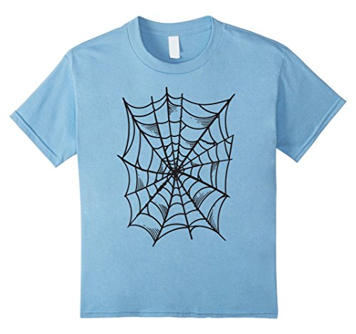 Spider-girl Classic Toddler/child Costume (Kids Spider and Spider Web Costume T-Shirt | Halloween Gift Shirt 4 Baby Blue)