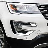 Vesul Chrome Front Fog Lamp Fog Light Cover Trim for Ford Explorer 2016 2017