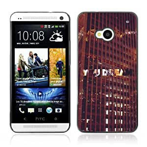 Designer Depo Hard Protection Case for HTC One M7 / Hipster Abstract Dream Photo