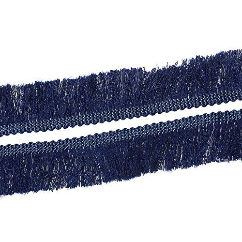 Souarts Cotton Fringe Tassel Trim Dark Blue 25mm 1