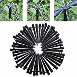 KINGSO 50pcs 360 Degree Emitter Drip System Adjustable Micro Flow Drip Watering Irrigation Kits Self Plant Garden Watering Kits 13.3cm