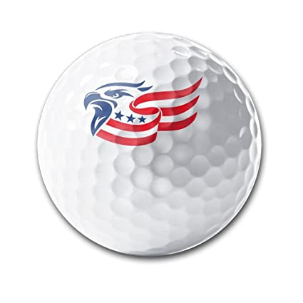 Amazon Eagle Head American Flag Deluxe Printing Golf Balls