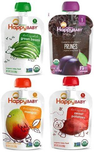 c67b33539 Happy Baby Organic Baby Food Stage 1 Starting Solids Variety Pack ...