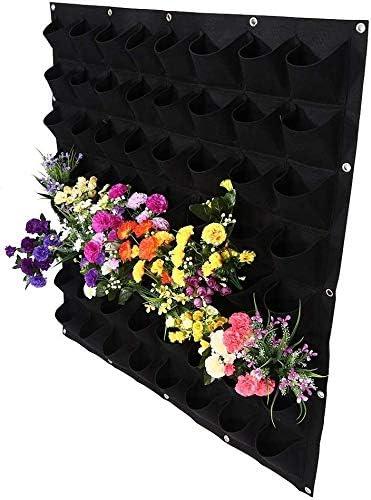 4-64 Pocket Wall Hanging Planting Bag Vertical Flower Grow Pouch Planter Garden