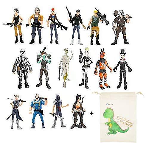 Character Figurine (Vercico 16pcs 3.5 inch Fortnight Figurines Action Figure Toys Game Characters PVC Model of Game)