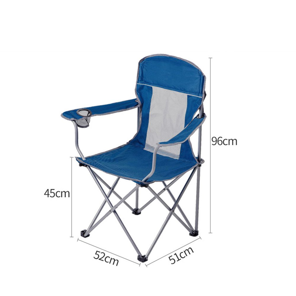 YNN Outdoor Klappstuhl Strand Stuhl Mittagspause Lounge Stuhl Freizeit Stuhl Angeln Skizze Stuhl Tragbare (Farbe : D)