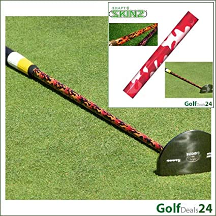 Amazon.com: Golf Eje skinz Rojo Camo personalizar tu Shaft ...