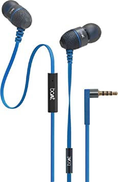 Boat Bassheads 220 Wired Headset with Mic (Blue) Mobile Phone Wired Headsets at amazon