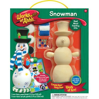 MasterPieces Works of Ahhh Winter Snowman Large Wood Paint (Ahhh Large Kit)