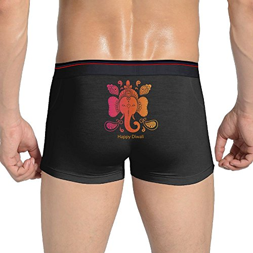 Mysterious Plumber Sexy Underwear Happy Diwali Men's Cotton Trunks Underwear Graphic Boxer Briefs by Mysterious Plumber