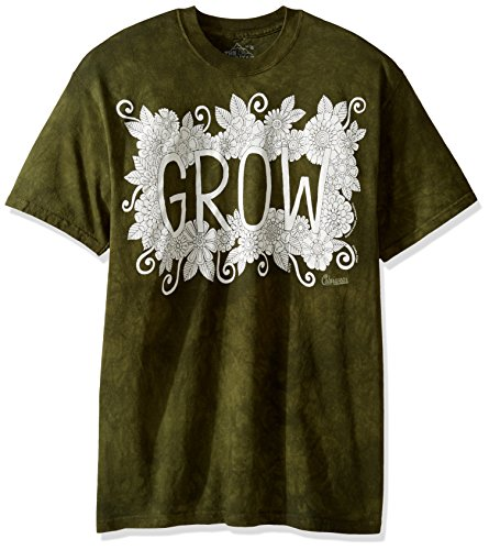 Big And Tall Word T-shirt (The Mountain Men's Big and Tall Colorwear Letters and words 2 Grow Adult Coloring T-Shirt, Green, 5XL)
