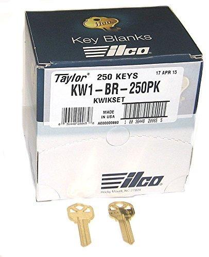 KWIKSET KW1 BRASS KEY BLANK *250 PACK* by Kaba Ilco (Kwikset Key Blank)