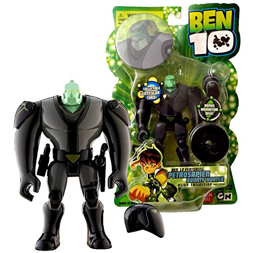 Cartoon Network Year 2006 Ben 10 Alien Collection Series 4 Inch Tall Figure - PETROSAPIEN BOUNTY HUNTER with Helmet, Blaster, Stunner, Animation Disk and Lenticular Card