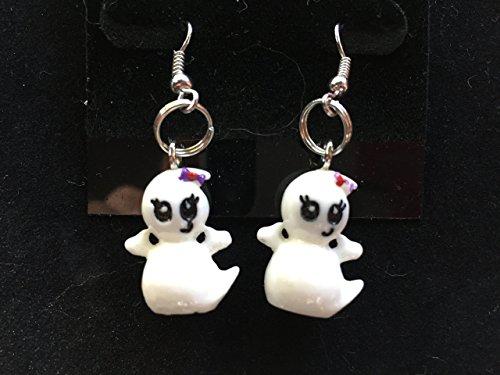 halloween 3d friendly ghost silvertone dangle