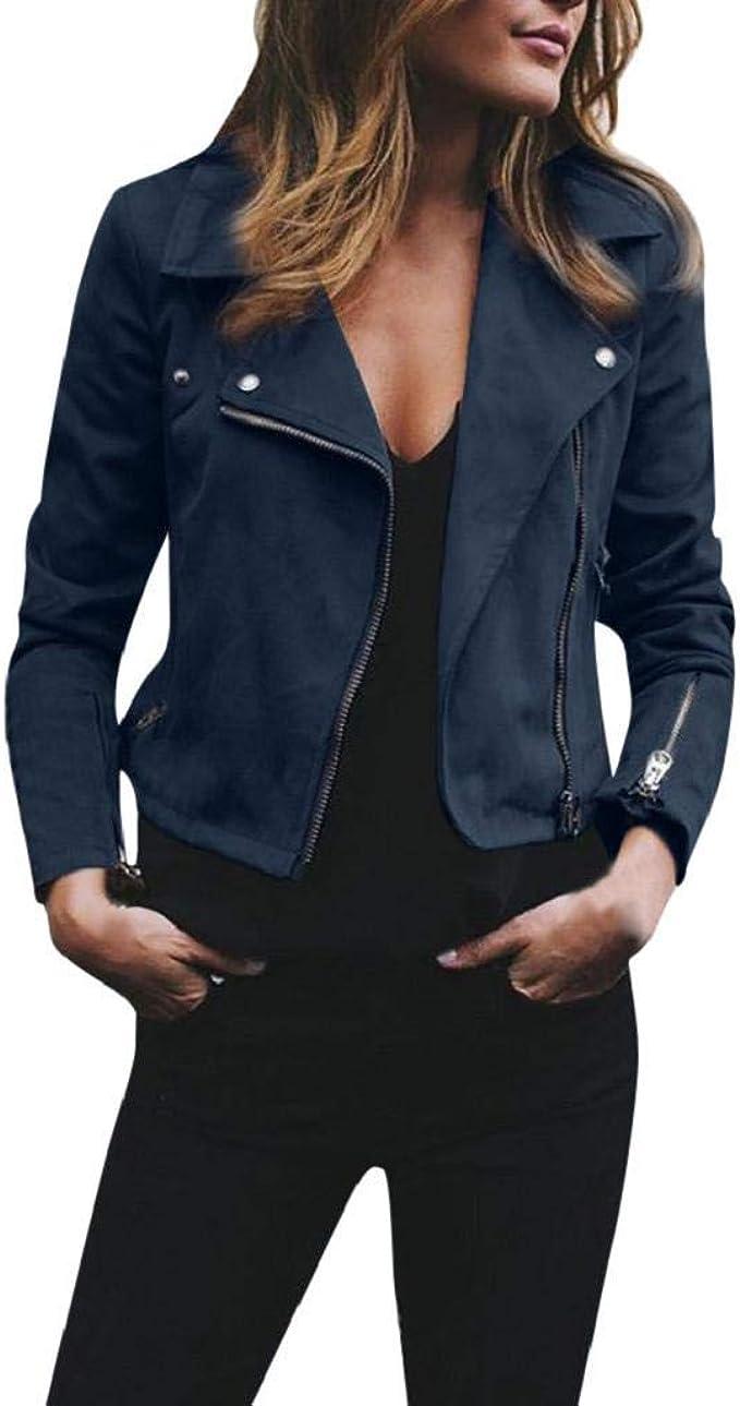 Damen PU Lederjacke Übergangsjacke Biker Jacken Mantel Damenjacke Kapuzenjacke