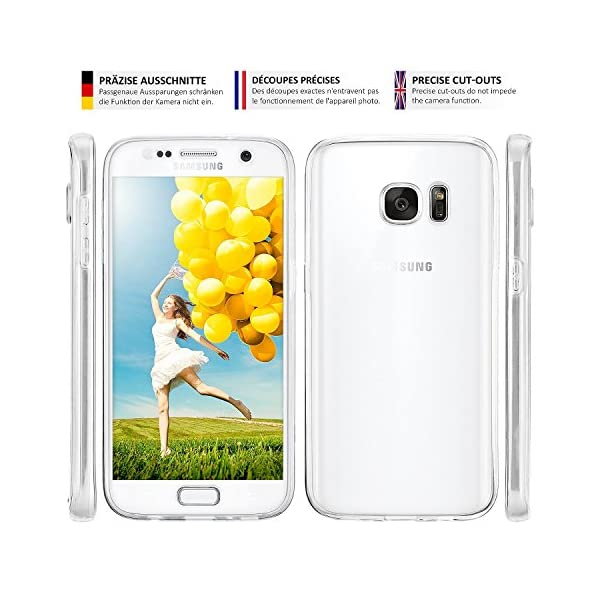 COPHONE® Funda Samsung Galaxy S5, Transparente Silicona 360°Full Body Fundas para Samsung Galaxy S5 Carcasa Silicona Funda Case. 3