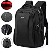 Backpack for Wonmen Mens Students Travel Business Fits up to 18.4 Inches Laptop Computer Notebook with USB Charge Port Shockproof Rain Cove Friendly TSA