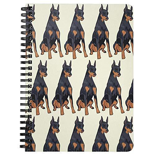 Doberman Pinscher Dog Wirebound Spiralbound Journal Diary Composition Notebook, Dog Lover Mom Dad Gifts 9175 ()