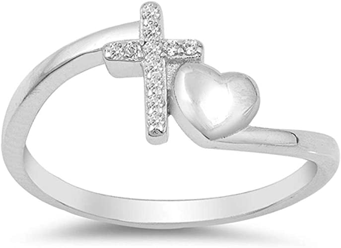 Amazon Com Oxford Diamond Co Sterling Silver Simple Cross And