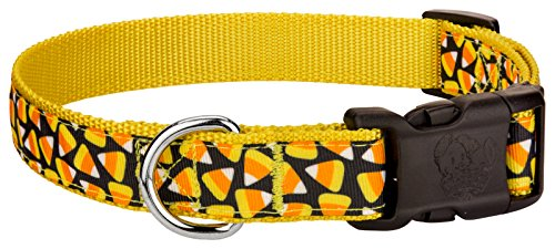 Country Brook Design | Deluxe Candy Corn Ribbon Dog Collar - Medium