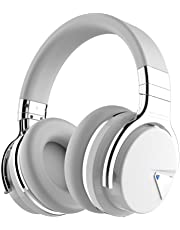 COWIN E7 Active Noise Cancelling Bluetooth Headphones with Mic Hi-Fi Deep Bass Wireless Headphones Over Ear, Comfortable Protein Earpad, 30 Hours Playtime for Travel Work TV Computer iPhone - White