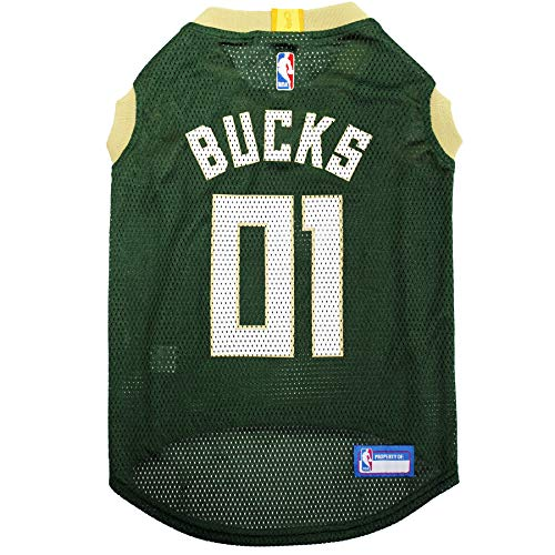 NBA MILWAUKEE BUCKS DOG Jersey, X-Large - Tank Top Basketball Pet Jersey - Great Milwaukee American Bucks